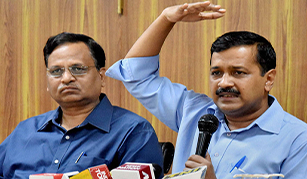 Delhi Chief Minister Arvind Kejriwal and Health Minister Satyendra Jain